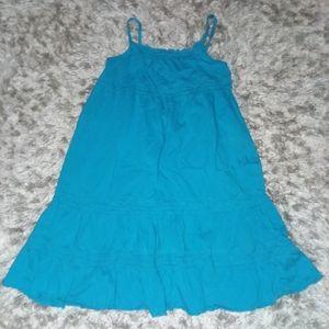 Girls blue ruffle dress